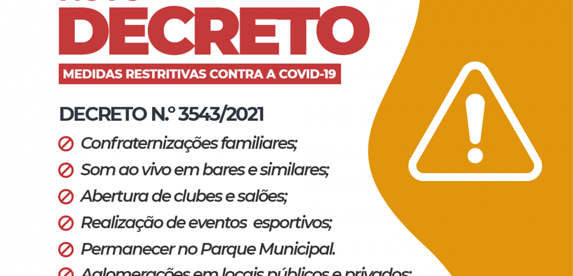 Por aumento de casos, Vidal Ramos edita novas medidas de combate ao coronavírus