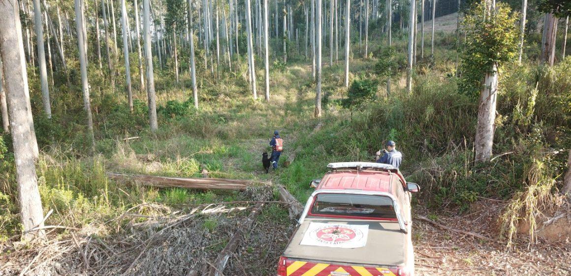 Corpo de bombeiros militar faz nova busca por Nereu Fiedler, mas idoso não é localizado