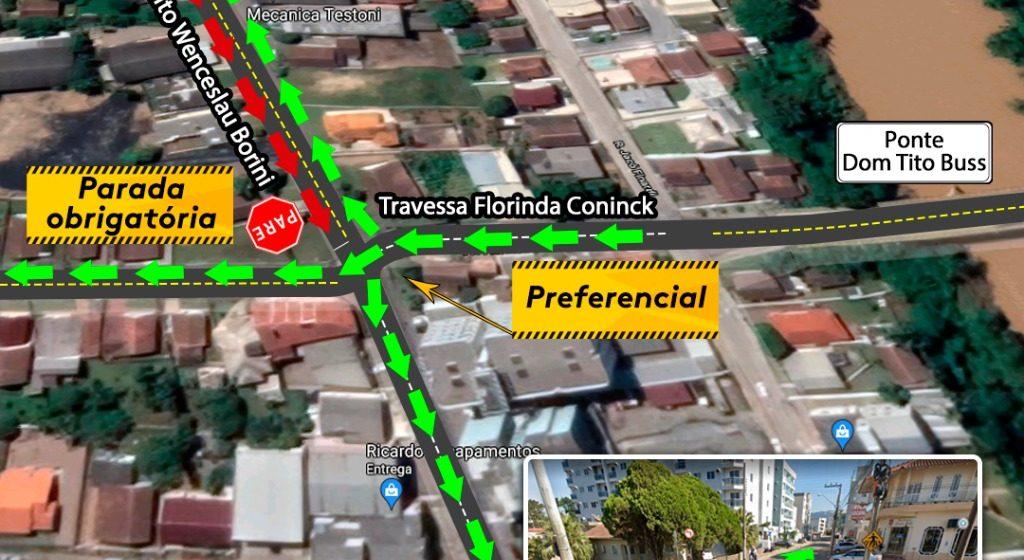 Bairro Canta Galo, em Rio do Sul, terá mudança no trânsito