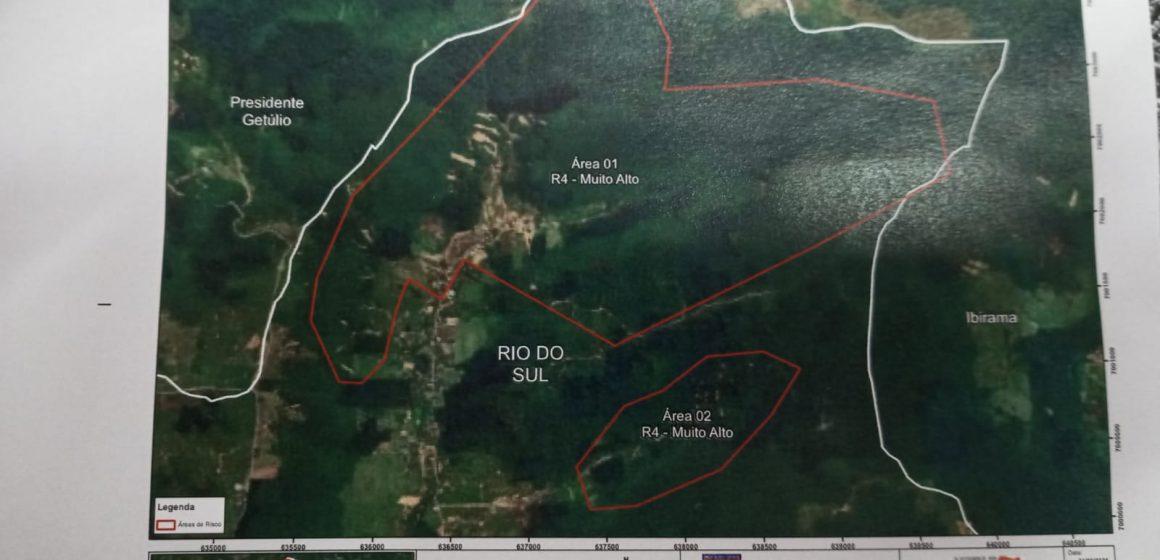Estudo aponta que áreas da Valada São Paulo, em Rio do Sul, não podem mais ser habitadas