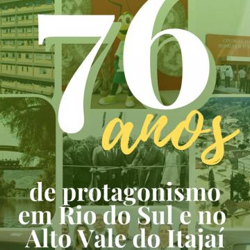 Associação Empresarial de Rio do Sul comemora 76 anos de fundação