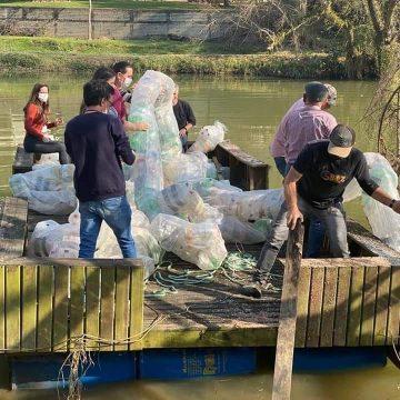 Barreira Ecológica é instalada no Rio Itajaí do Sul, em Ituporanga
