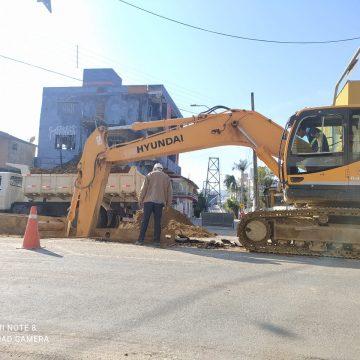Casan prevê que obras na Rua Princesa Isabel prossigam até a primeira quinzena de setembro