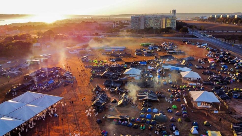 Indígenas da região permanecem acampados em Brasília para acompanhar julgamento do marco temporal para demarcação de terras