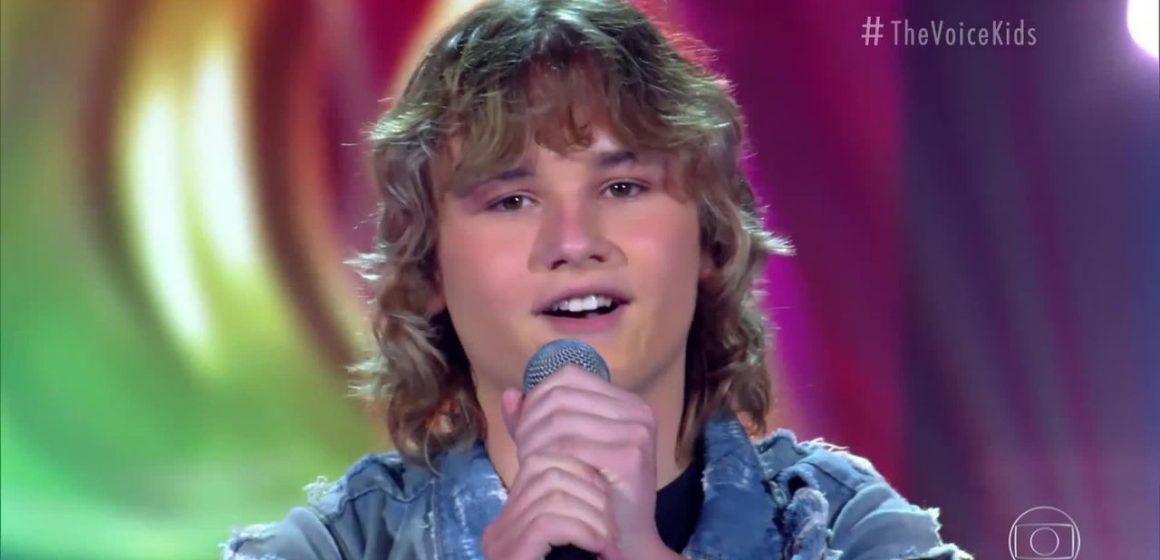 Selecionado no fim de semana, João Vitor Kindel se prepara para a próxima fase do The Voice Kids