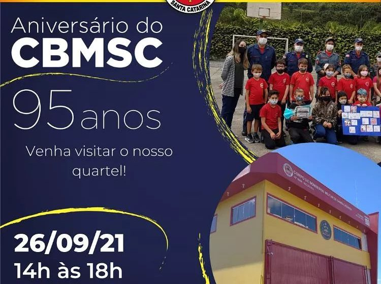 Batalhão do Corpo de Bombeiros de Rio do Sul estará aberto para visitação no domingo