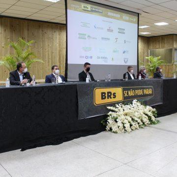 """Em evento sobre BR-470, vice-presidente da Fiesc afirma: """"não podemos ser tratados como tapa-buracos"""""""