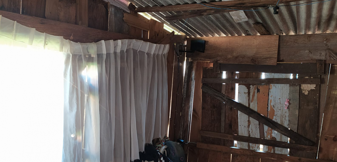 Idosa e neta, que moram no bairro Barragem, precisam de ajuda para reforma de telhado