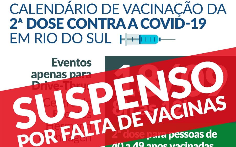 Por falta de vacinas, drive-thru de dose 2 previsto para sábado, em Rio do Sul, é suspenso