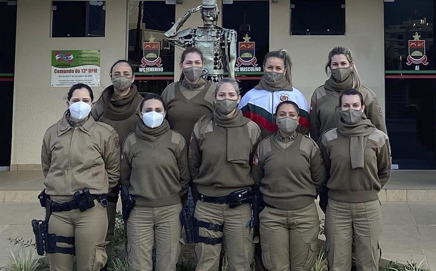 Na área do 13º Batalhão de PM, 90 mulheres estão com atendimento ativo no programa Rede Catarina