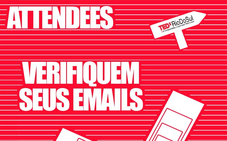 Selecionados para acompanhar em sala especial a transmissão do TEDX Rio do Sul vão receber materiais por drive thru
