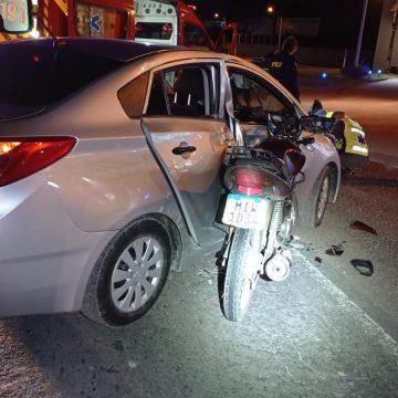 Motociclista fica gravemente ferido em colisão com carro na BR-470, em Rio do Sul