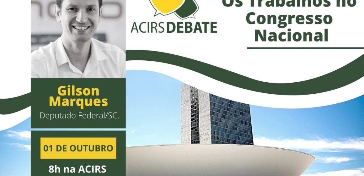Edição 2021 do ACIRS Debate vai discutir Trabalhos no Congresso Nacional