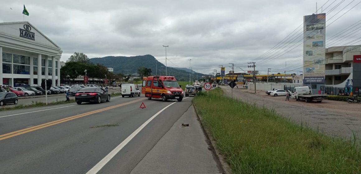 Idoso morre após ser atropelado na BR-470 em Rio do Sul