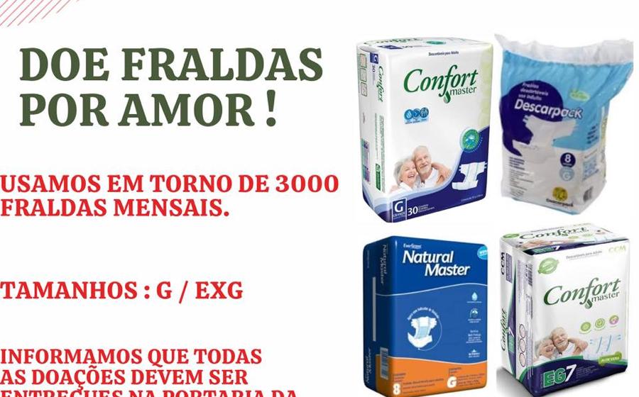 Asilo São Vicente de Paulo realiza campanha de doação de fraldas geriátricas