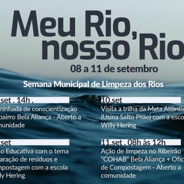 Semana Municipal de Limpeza dos Rios tem programação especial do bairro Bela Aliança