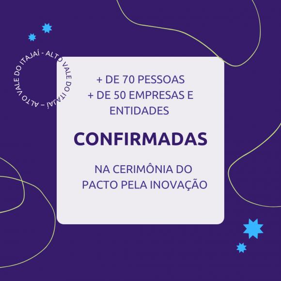 Pacto pela inovação será formalizado amanhã em Rio do Sul