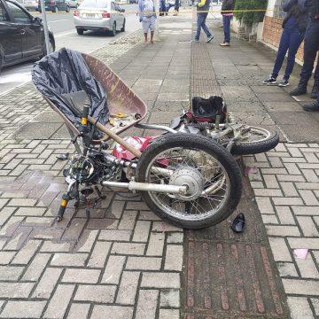 Motociclista, de 19 anos, morre nesta manhã em acidente na Avenida Oscar Barcelos, em Rio do Sul
