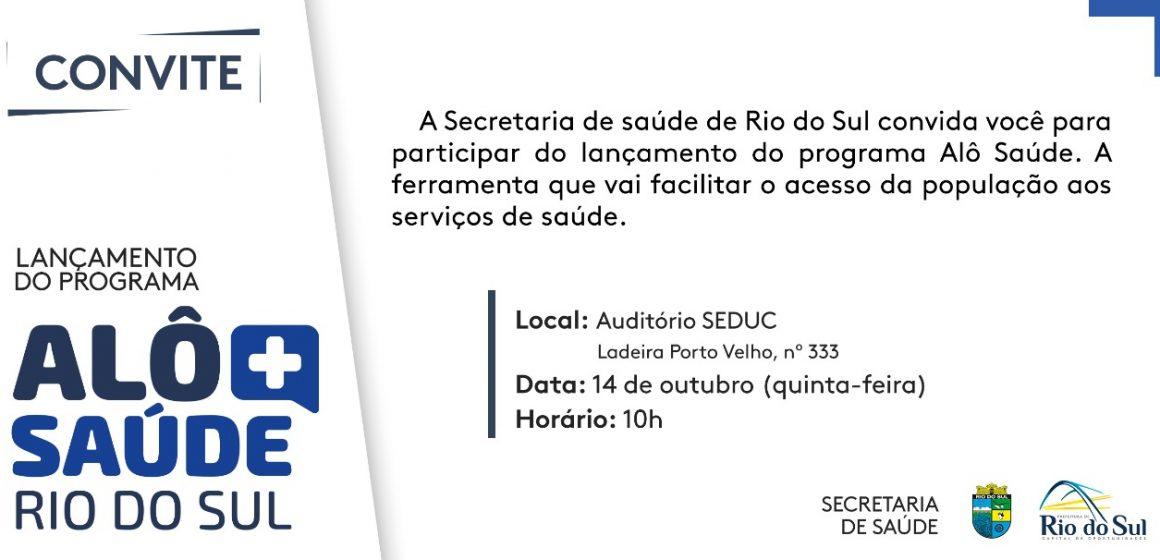Rio do Sul lança Programa Alô Saúde