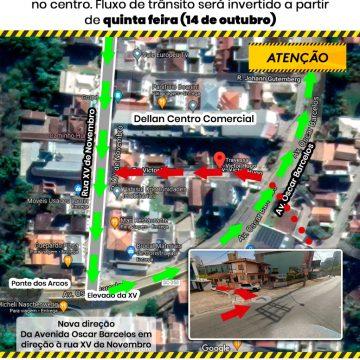 Sentido de trânsito da travessa Victor Hugo, em Rio do Sul, será alterado a partir desta quinta-feira