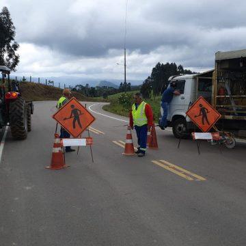 Serra do Tucano, entre Rio do Sul e Presidente Getúlio, volta a ser fechada para conclusão de pintura e sinalização