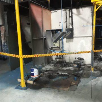 Indústria de Laurentino é atingida por incêndio