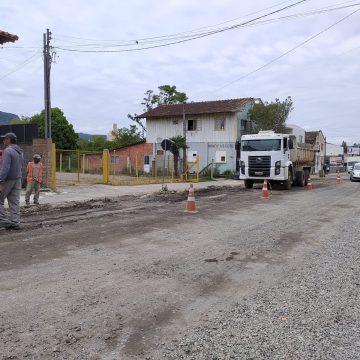 Empresa pode disponibilizar equipe extra para obras na Rua Princesa Isabel, em Rio do Sul