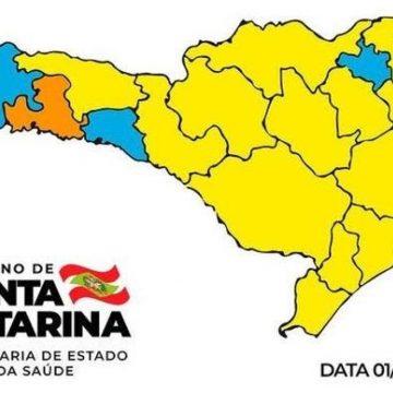 Mapa de risco se mantém em regiões catarinenses no nível gravíssimo e três no risco moderado
