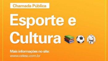 Celesc abre chamada pública e distribuirá R$ 4 milhões para projetos culturais e esportivos em SC